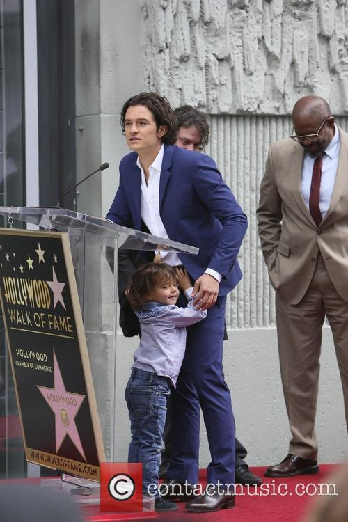 Orlando Bloom, Flynn Bloom and Forest Whitaker 9