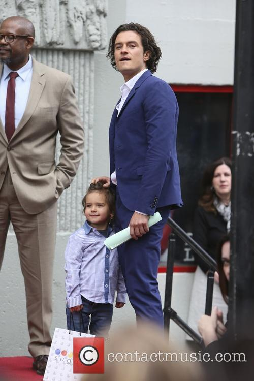 Orlando Bloom, Flynn Bloom and Forest Whitaker 1
