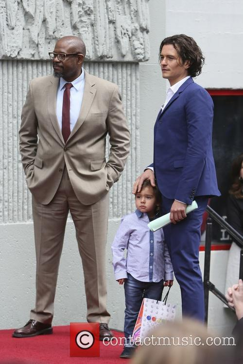 Orlando Bloom, Flynn Bloom and Forest Whitaker 11