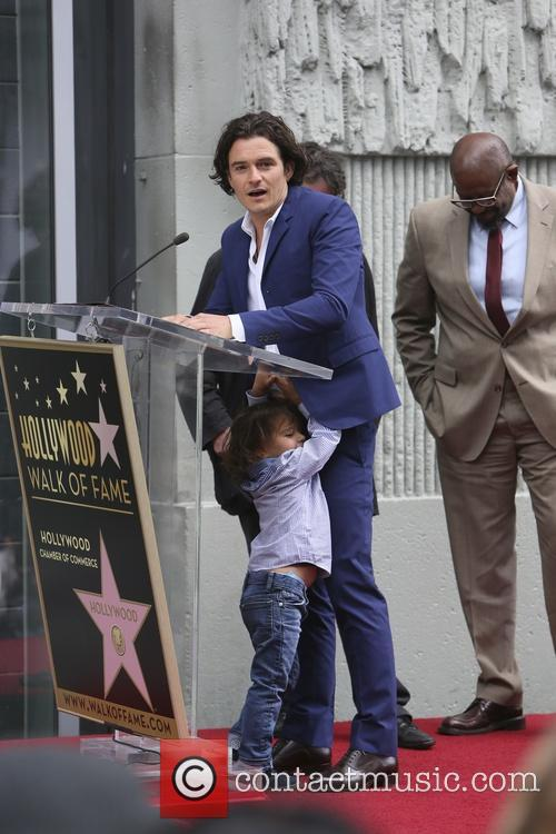 Orlando Bloom, Flynn Bloom and Forest Whitaker 12