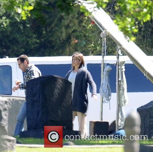 "Jennifer Aniston filming ""Cake"""