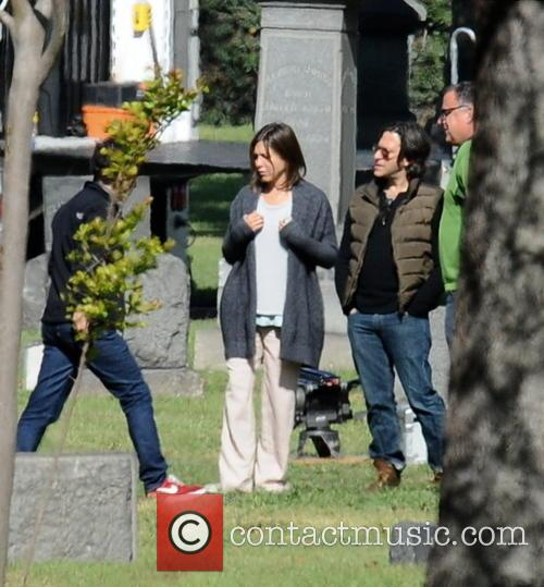 "Jennifer Aniston filming ""Cake"""