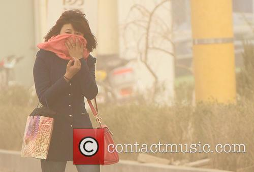 Sandstorm hits Hami in northwest China