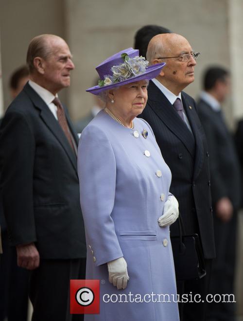 Queen Elizabeth Ii, Prince Philip Duke Of Edinburgh and President Giorgio Napolitano 2