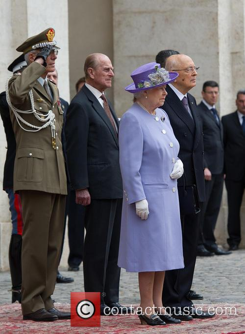 Queen Elizabeth II and Prince Philip visit Rome