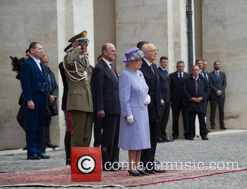 Queen Elizabeth Ii, Prince Philip Duke Of Edinburgh and President Giorgio Napolitano 4