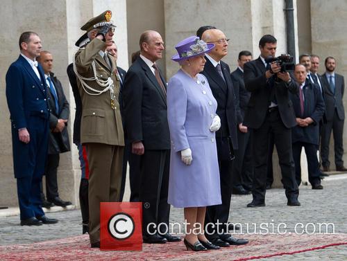 Queen Elizabeth Ii, Prince Philip Duke Of Edinburgh and President Giorgio Napolitano 5