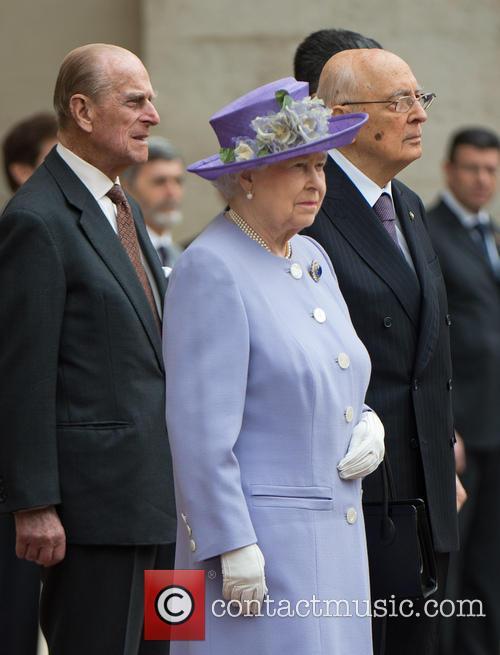 Queen Elizabeth Ii, Prince Philip Duke Of Edinburgh and President Giorgio Napolitano 6