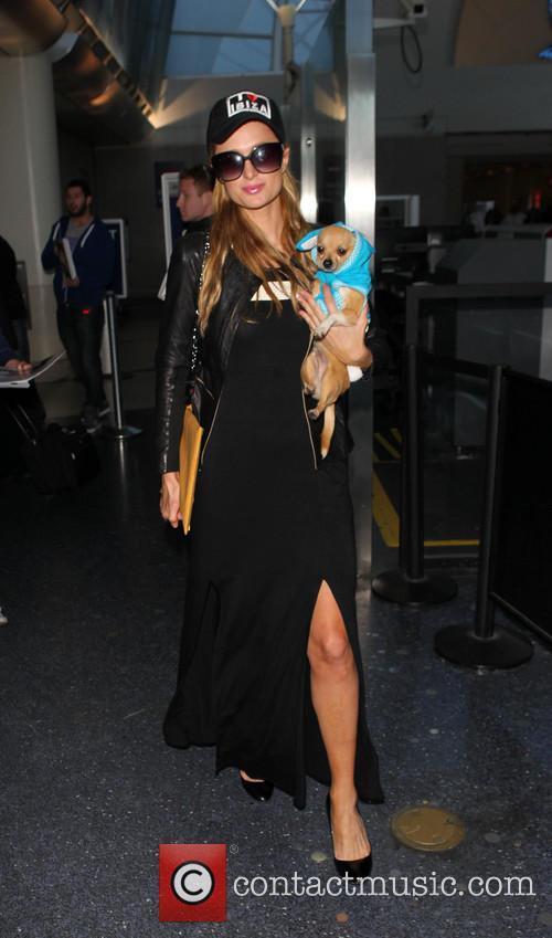 Paris Hilton arrives LAX