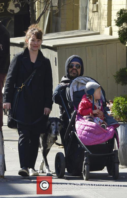 Peter Dinklage out with his family