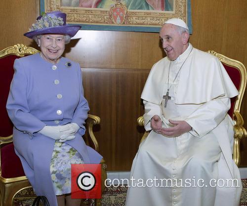 Queen Elizabeth II meets Pope Francis