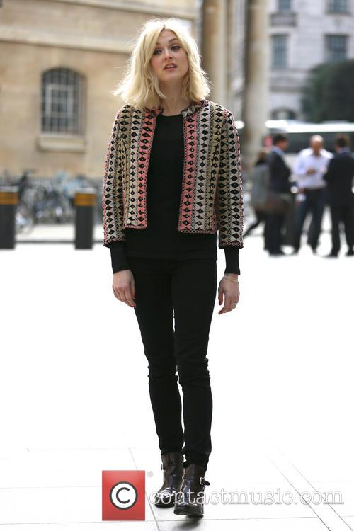 Fearne Cotton filming outside BBC Broadcasting House