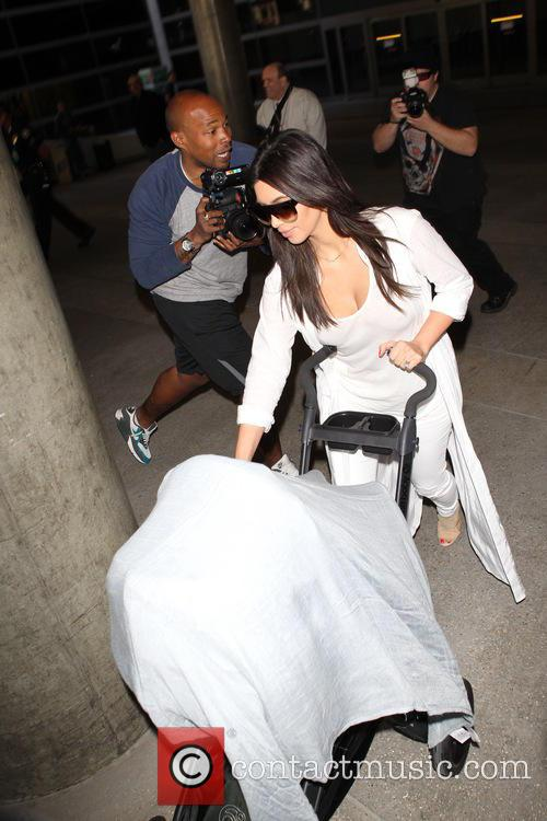 kim kardashian north west the kardashian family arrive 4137841