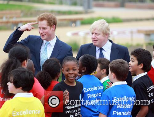 Prince Harry, Boris Johnson, Queen Elizabeth Olympic Park