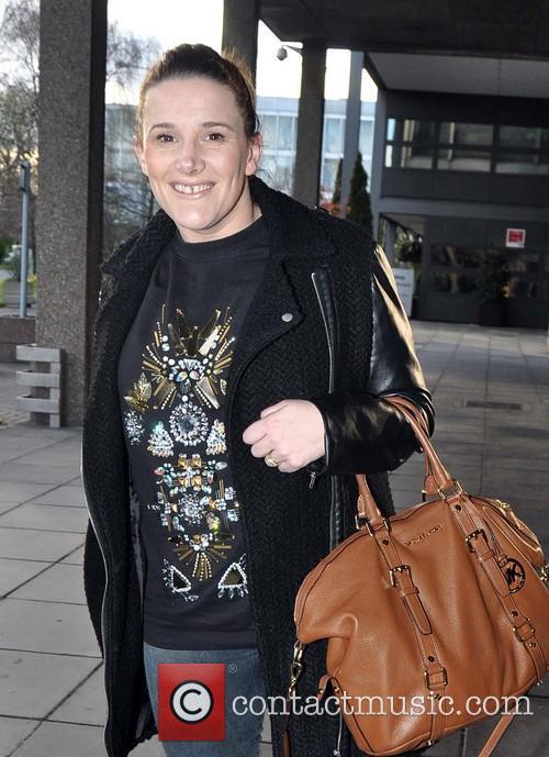 Sam Bailey arriving at RTE Studios
