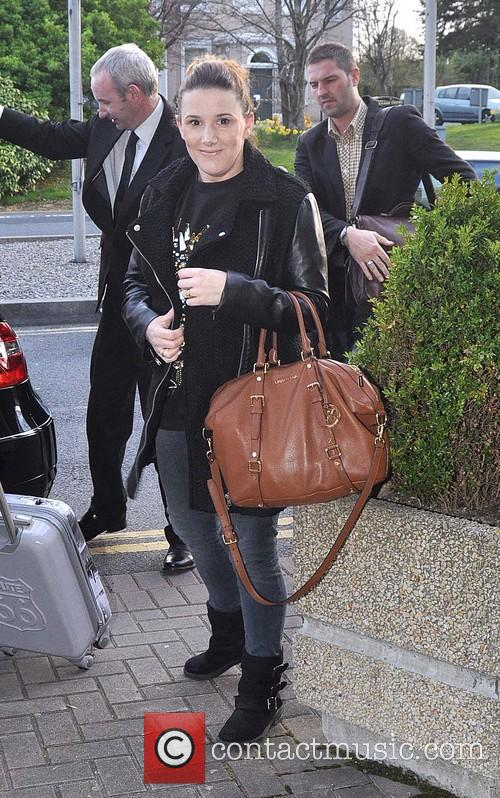 Sam Bailey arriving at RTE Studios