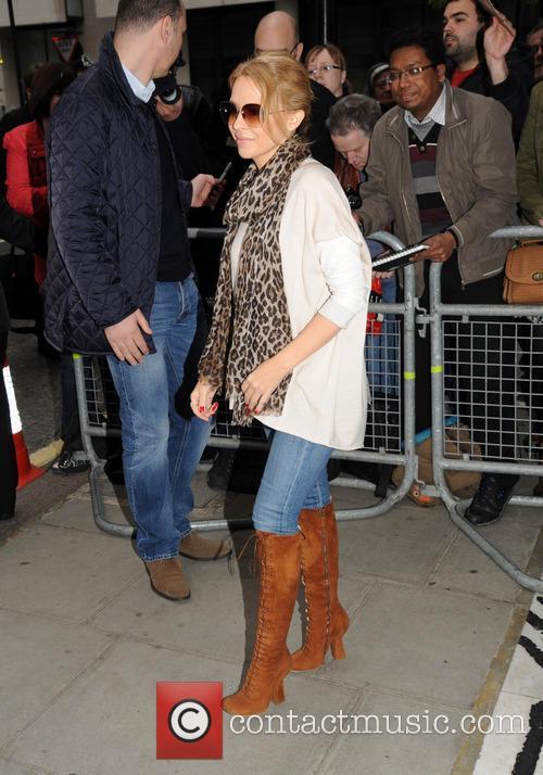 Kylie Minogue at BBC Radio 1