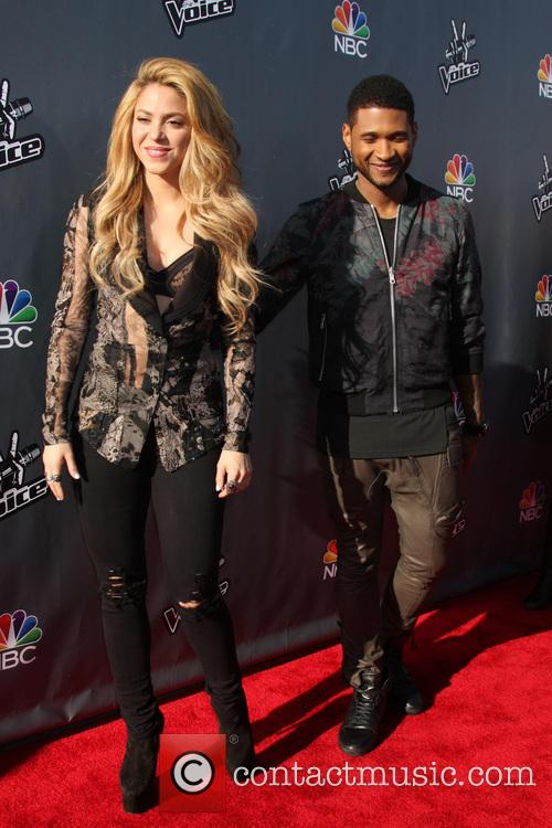 Usher, Shakira, The Voice Coaches Photocall