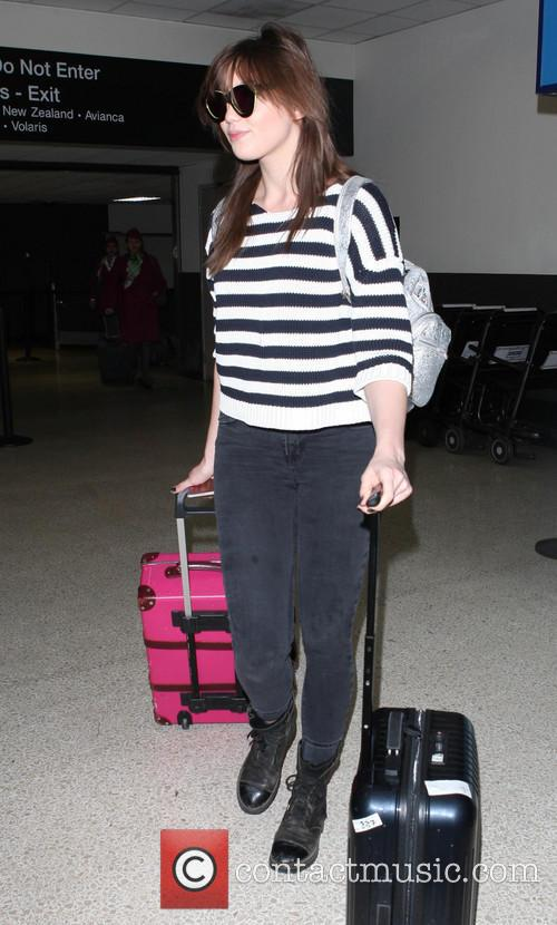 Daisy Lowe arrives at LAX