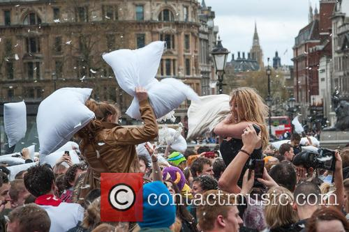 International Pillow Fight Day and London 1