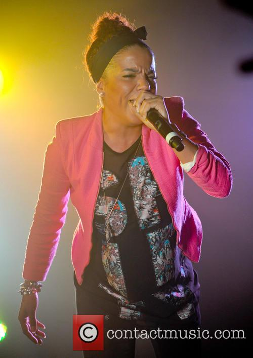Ms Dynamite performing live in concert
