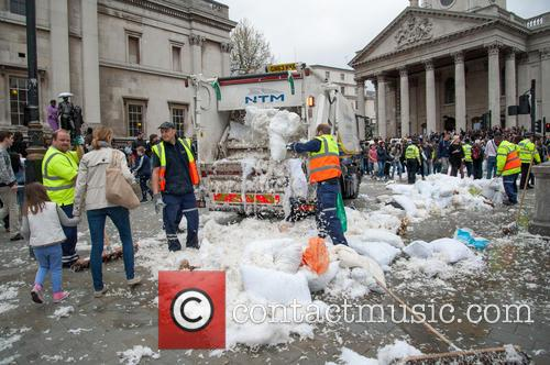 Westminster City Council and International Pillow Fight Day 1
