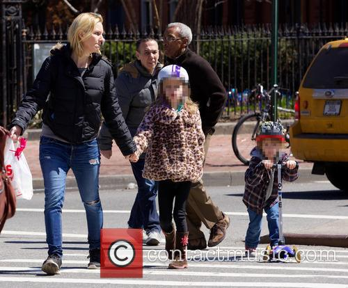 Gilbert Gottfried And Family In West Village