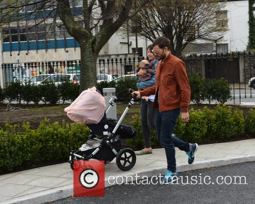 Amelia Warner, Jamie Dornan and Daughter 7
