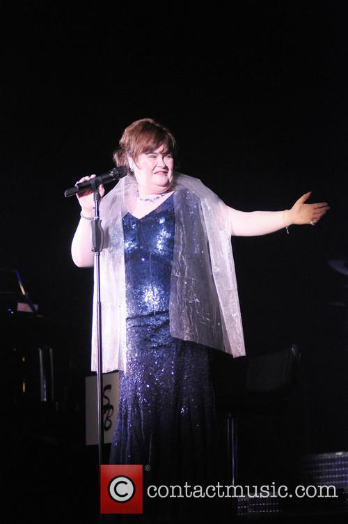 Susan Boyle performing live in concert