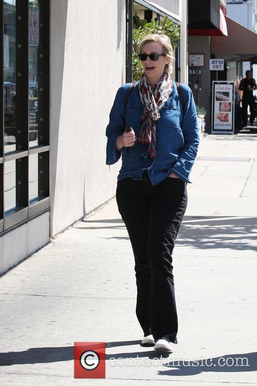 Jane Lynch leaving Kings Road Cafe in West...