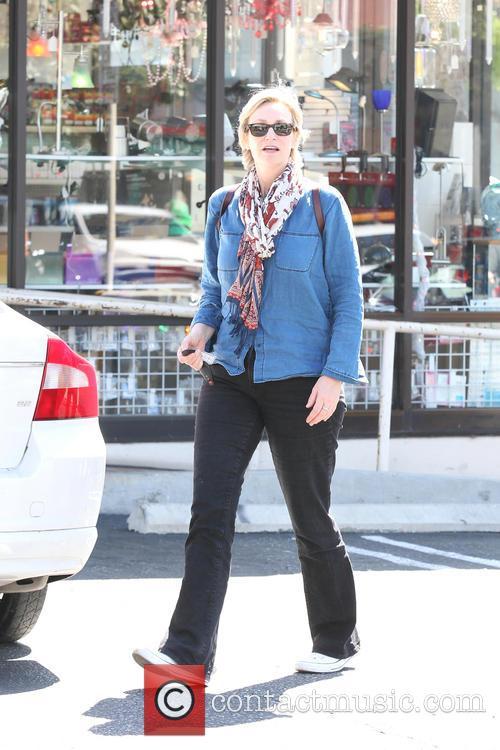 Jane Lynch leaving Kings Road Cafe in West...