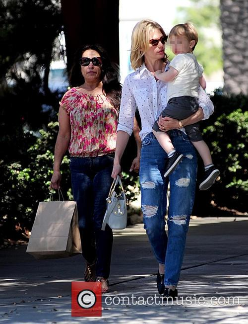 January Jones takes son Xander to lunch