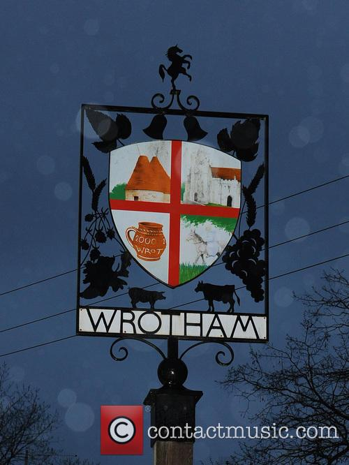 Town sign of Wrotham