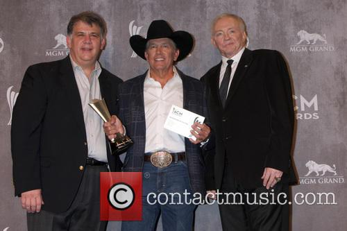 Bob Romero, George Strait and Jerry Jones