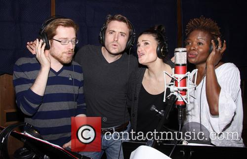 Anthony Rapp, James Snyder, Idina Menzel and Lachanze 3