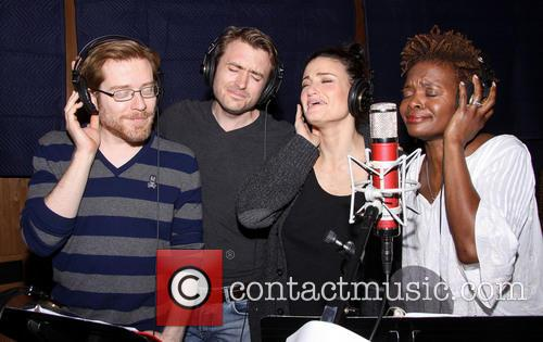 Anthony Rapp, James Snyder, Idina Menzel and Lachanze 5