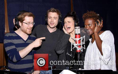 Anthony Rapp, James Snyder, Idina Menzel and Lachanze