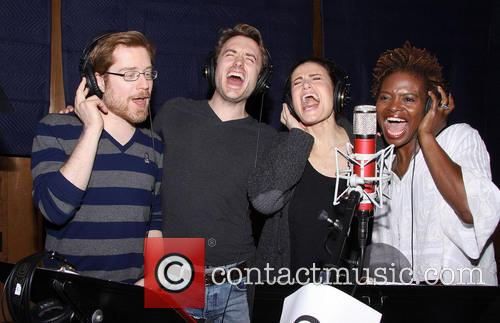 Anthony Rapp, James Snyder, Idina Menzel and Lachanze 6