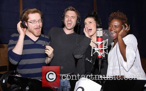 Anthony Rapp, James Snyder, Idina Menzel and Lachanze 7