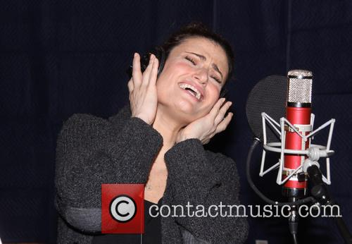 idina menzel broadways if then recording session 4145846
