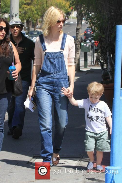 January Jones Out With Son Xander