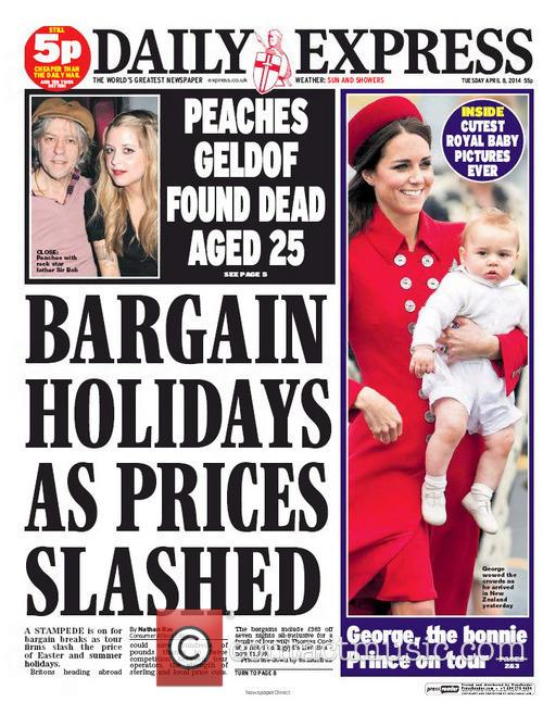 Peaches Geldof and Daily Express 3