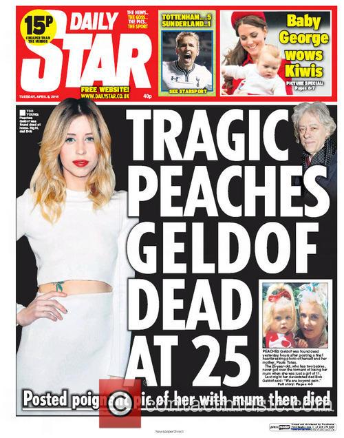 Peaches Geldof and Daily Star 1