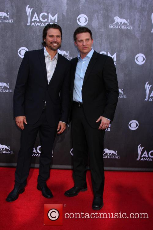 Joshua Morrow and Steve Burton