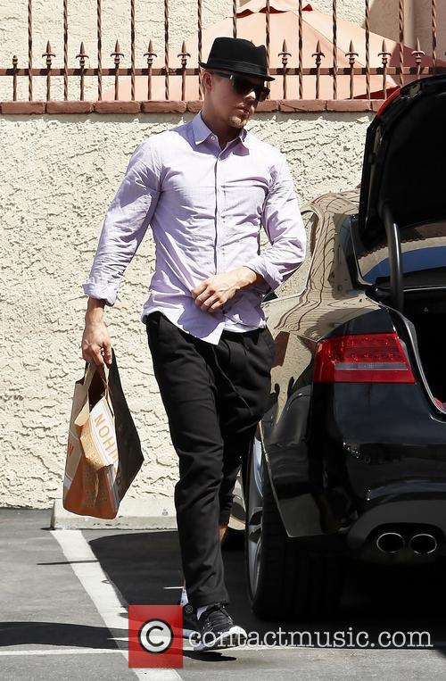 Derek Hough arriving at rehearsals for 'Dancing With...