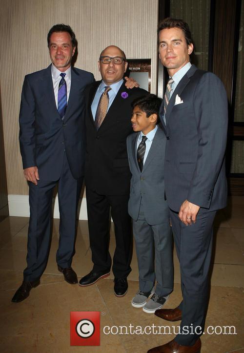 Matt Bomer, Willie Garson, Nathen Garson, Tim DeKay, The Beverly Hilton Hotel