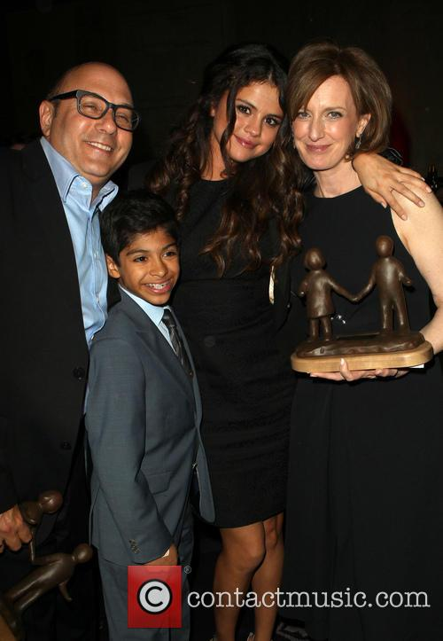 Willie Garson, Selena Gomez, Anne Sweeney and Nathen Garson 7