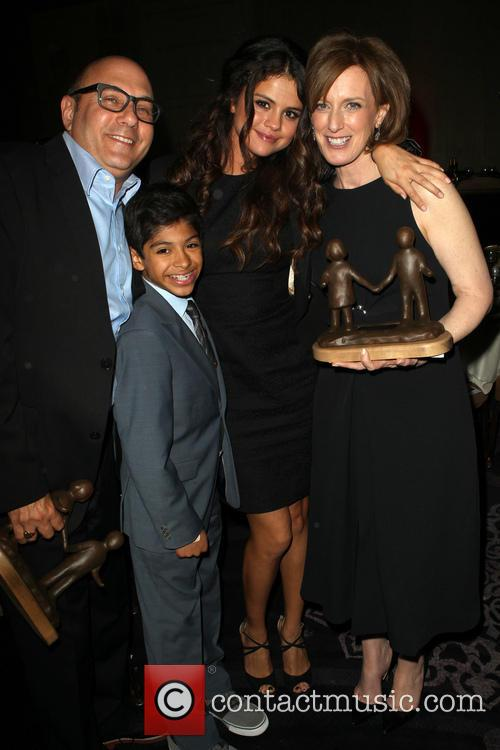 Willie Garson, Selena Gomez, Anne Sweeney and Nathen Garson 11