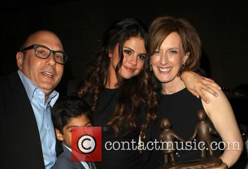 Willie Garson, Selena Gomez, Anne Sweeney, Nathen Garson, The Beverly Hilton Hotel