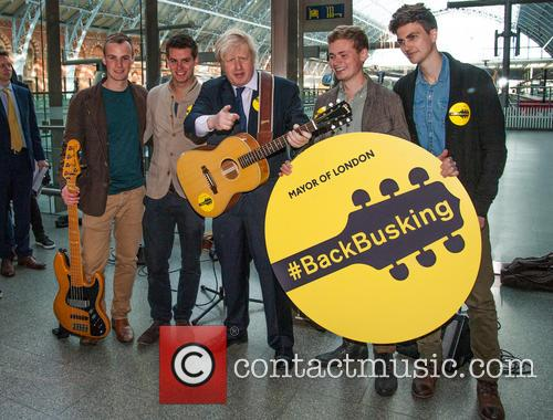 #BackBusking photocall with Mayor of London Boris Johnson